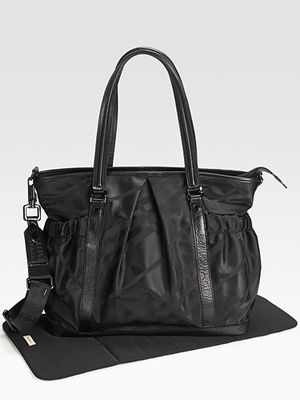 Burberry tonal check diaper bag