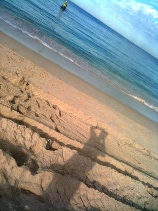 Beach shadow